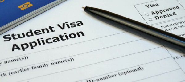 Image of student visa application